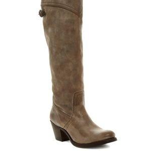 New Frye Womens Jane Tall Cuff Brown Fashion Boots